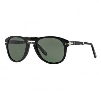 Persol 714 Foldable Black Sunglasses 52 mm lens 0PO0714