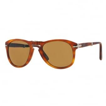 Persol 714 Foldable Brown Sunglasses 0PO0714 52/140