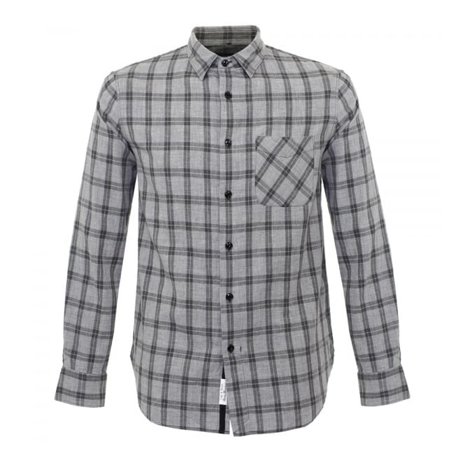 Rag & Bone Rag and Bone Grey Check Beach Shirt M265A125X