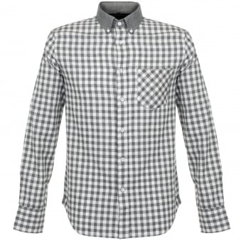 Rag & Bone Yokohama Check LS Grey Shirt M266A14SD