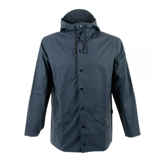 Rains Blue Hooded Jacket 1201