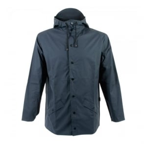 Rains Blue Hooded Jacket 1201