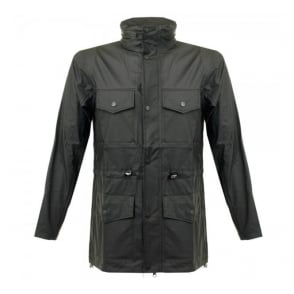 Rains Four Pocket Black Jacket 1237 01