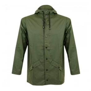 Rains Green Waterproof Jacket 1201 03