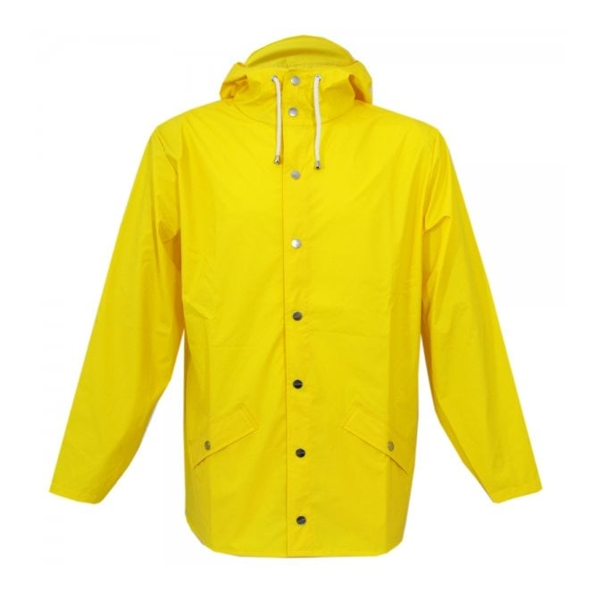 Rains Hooded Yellow Jacket 12010403