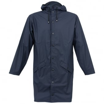 Rains Long Jacket Blue 12020201
