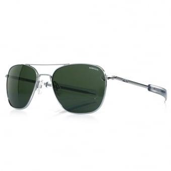 Randolph Aviator Bright Chrome Sunglasses AF53614