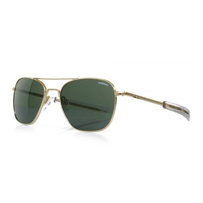Randolph Sunglasses Randolph Aviator Gold Bayonet Sunglasses AF51614