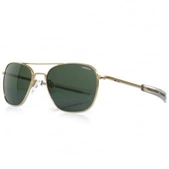 Randolph Aviator Gold Bayonet Sunglasses AF51614