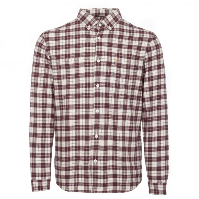 Farah Red Coleville Flannel Shirt