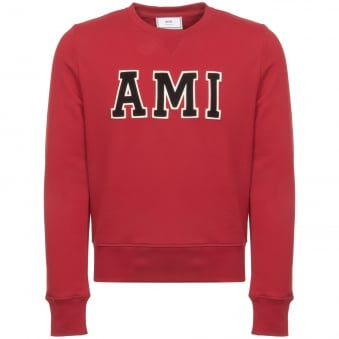 AMI Red Patch Sweatshirt H17J024-730