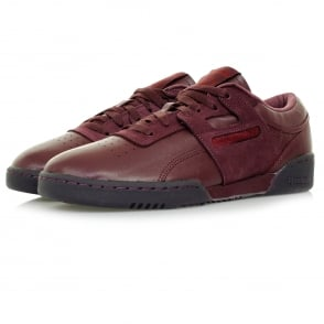 Reebok Workout Lo Burgundy Leather Shoe BD2531