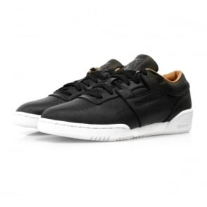 Reebok Workout Lo Clean PN Black Leather Shoes V68814