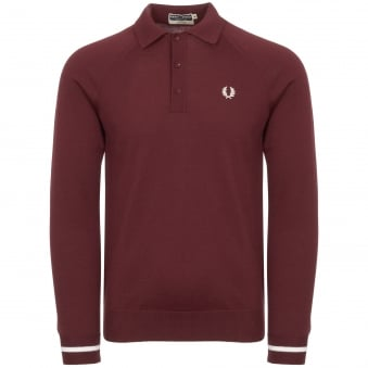 Reissues Long Sleeved Knitted Shirt - Aubergine