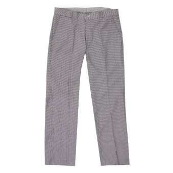 Relco London Dogtooth Regular Leg Stay Press Trousers REL.BLK/WHT