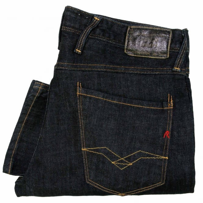 Replay Jeans Replay Anbass Blue Black Denim Jeans M9140