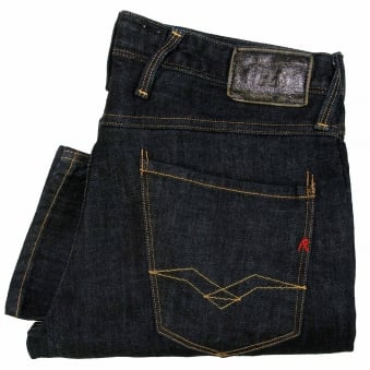 Replay Anbass Blue Black Denim Jeans M9140