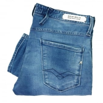 Replay Anbass Blue Denim Jeans M914 000 09B 752