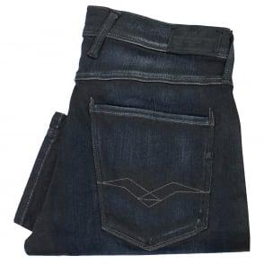 Replay Anbass Hyperflex Slim Fit Blue Black Jeans 91403