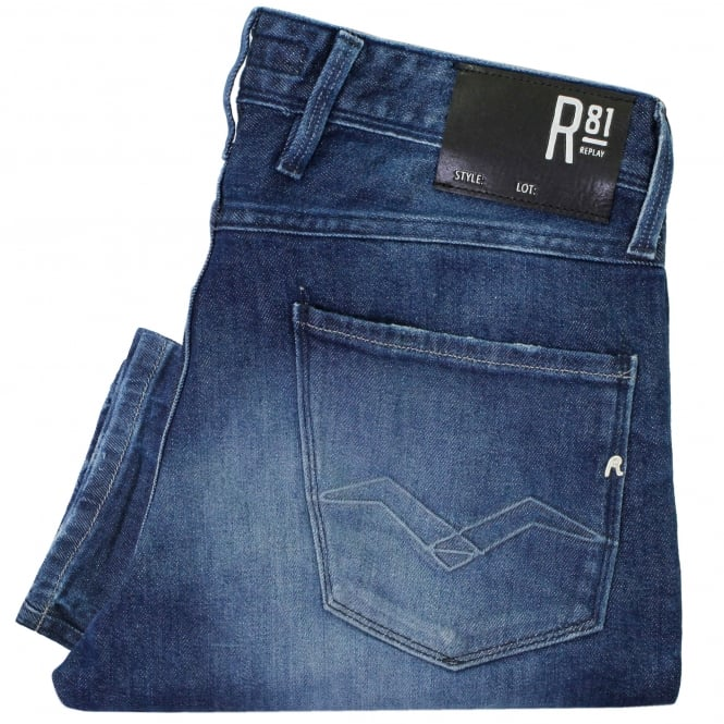 Replay Jeans Anbass Laser Deep Blue Jeans M914H007D