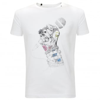 Replay The King White T-Shirt M3287
