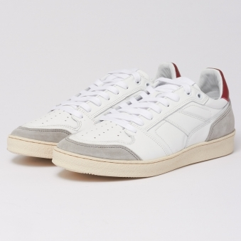 Rouge White Thin Low Trainers