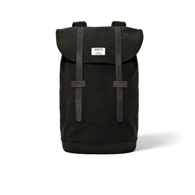 Sandqvist Stig Black Canvas Bag SQA181