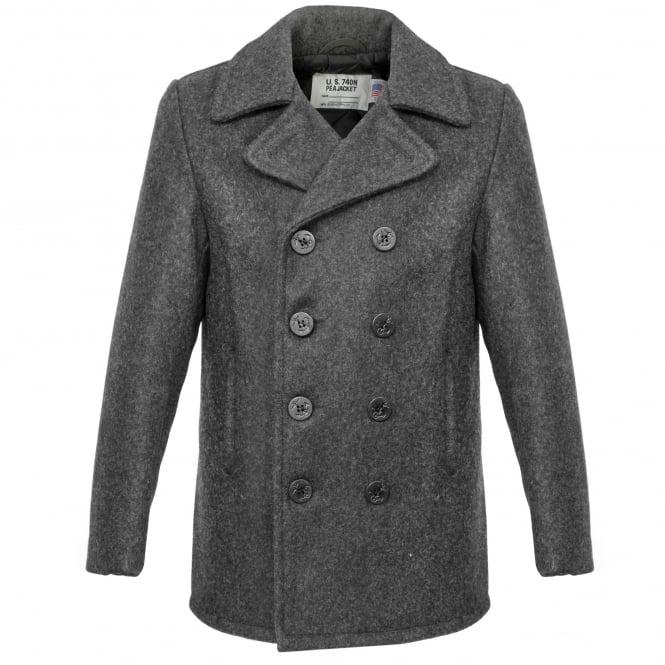 Schott NYC Schott Classic Melton Wool Grey Peacoat 740