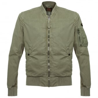 Schott NYC Clay Khaki Bomber Jacket CIS1701