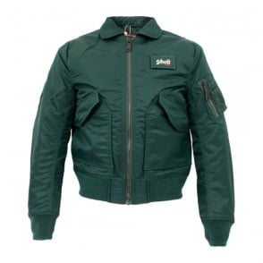 Schott NYC CWU-R Green Bomber Flight Jacket 210100