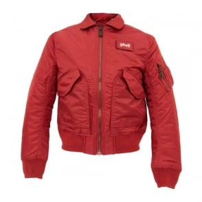 Schott NYC CWU-R Red Bomber Flight Jacket 210100