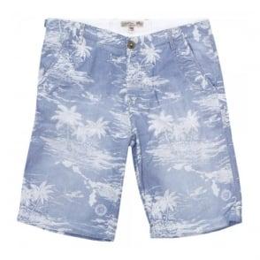 Schott NYC TR Palmer 30 Blue Bermuda Shorts OCCS1504