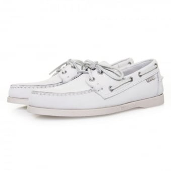 Sebago Docksides White Nubuck Shoes B720242