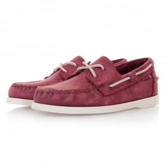 Sebago Docksides Wine Nubuck Shoes B720185