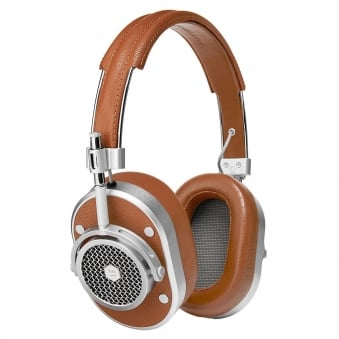 Silver & Brown MH40 Over-Ear Headphones