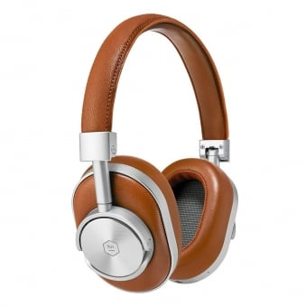 Silver & Brown MW60 wireless Over-Ear Headphones