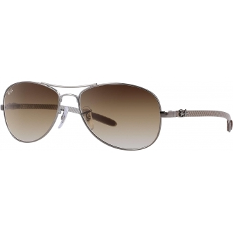 Silver RB8301 Tech - Light Brown Gradient Lenses