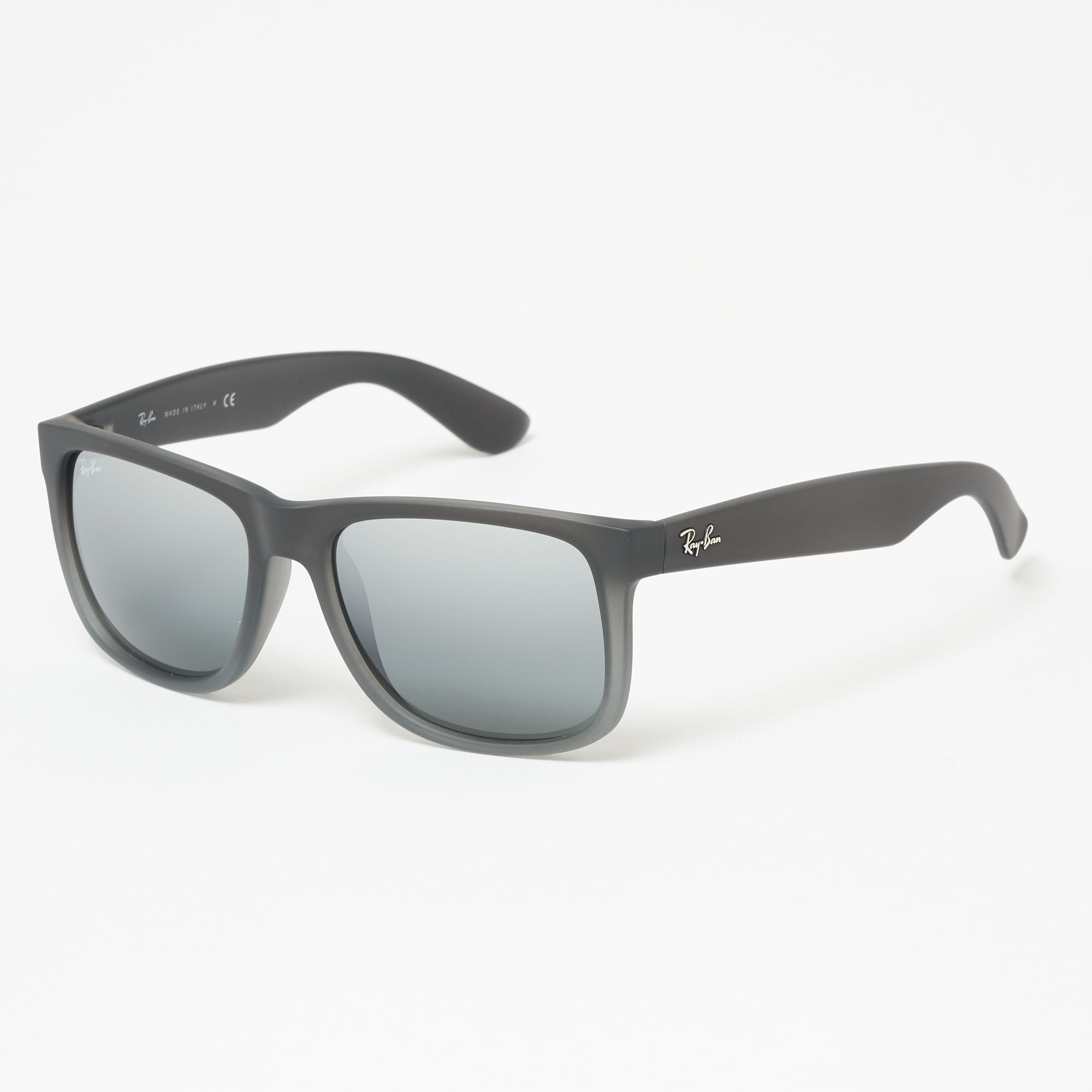 85bf39ca17 Smoke Grey Justin Sunglasses - Silver Gradient Mirror Lenses