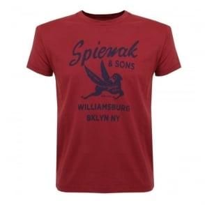 Spiewak and Sons Red T-shirt 02SPMCS0271FSJ01