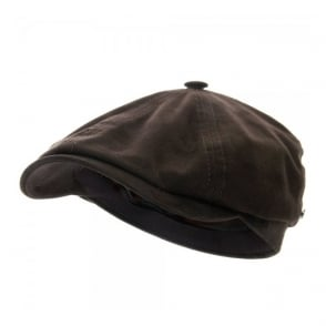 Stetson Brooklin Goat Suede Brown Newsboy Cap 6647401-6
