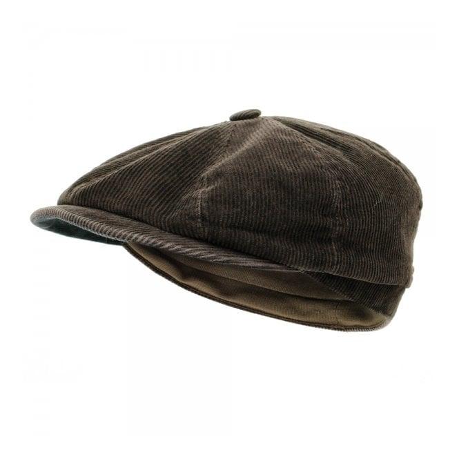 Stetson Hats Stetson Hatteras Corduroy Ear Flap Flat Cap 6841118 6