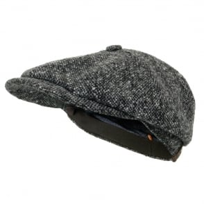 Stetson Hatteras Donegal WV Charcoal Newsboy Cap 6840601 433