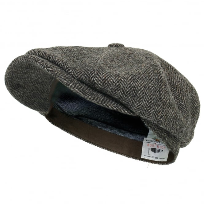 Stetson Hats Stetson Hatteras Woolrich Herringbone Grey Newsboy Hat 6840514 333