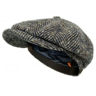 Stetson Herringbone Grey Wool Newsboy Flat Cap 6840502 327