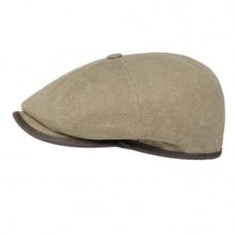Stetson Seward Green Khaki Canvas Flat Cap 6841125