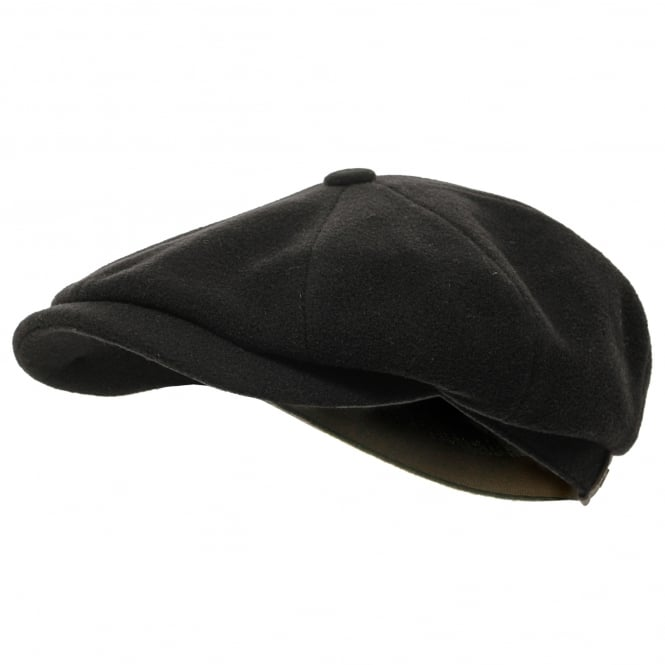 Stetson Hats Stetson Wool Black Newsboy Cap 6840101 32