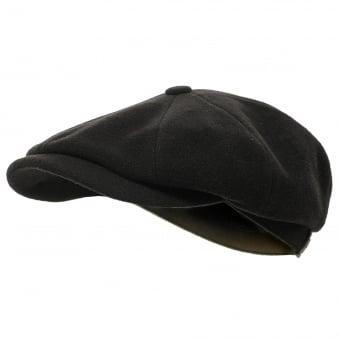 Stetson Wool Black Newsboy Cap 6840101 32
