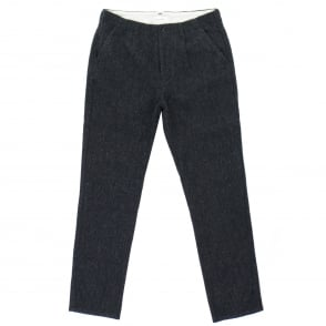 Still By Hand Navy Wool Trousers PT0563OS