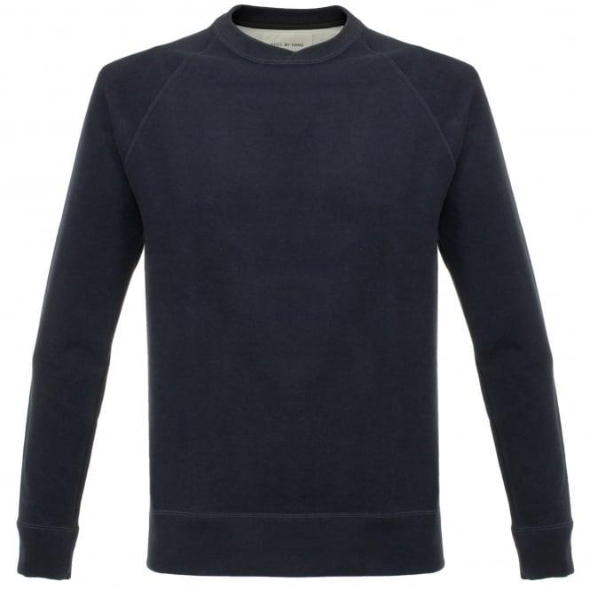 Still By Hand Raglan Navy Sweatshirt CS0363OS