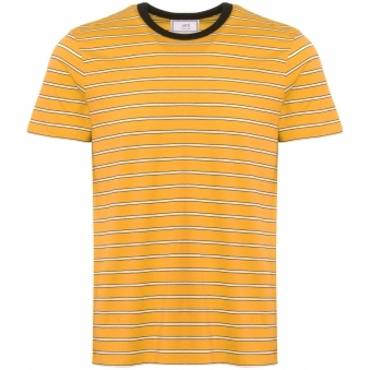 Striped Short Sleeves T-Shirt - Jaune